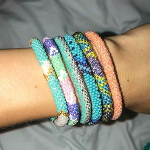 Lot of 6 Sashka Co. Beaded Bracelets